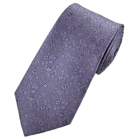 shades of lavender lilac floral patterned tie from ties
