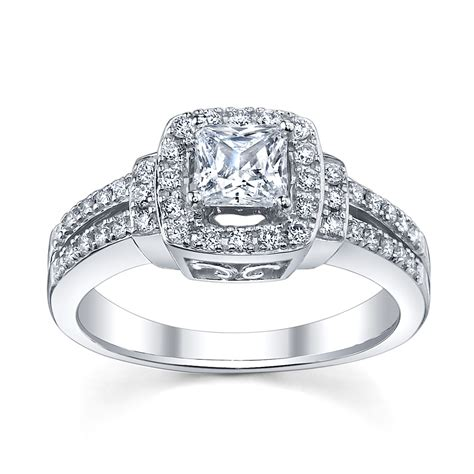 princess cut halo engagement ring trends for
