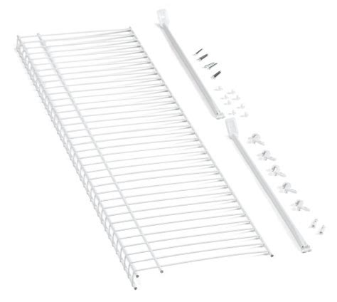 Closetmaid 3 Foot Wire Utility Shelf Closetmaid 1031 3ft By 12in Wire Shelf Kit White