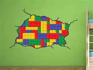 Lego Wall Stickers For Kids Rooms Lego Style Wall Decal Kids Bedroom Lego Room Decoration