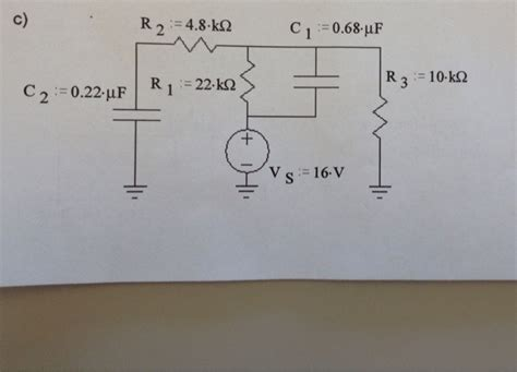 find the voltage across the capacitor find the voltage across each capacitor and the ene chegg