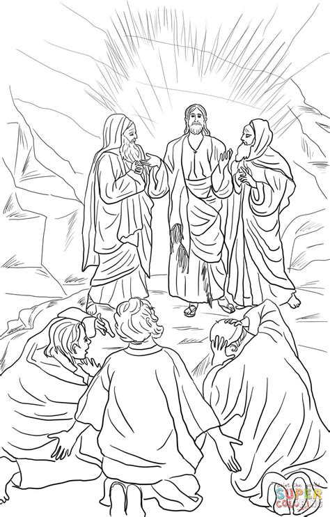 coloring pages jesus transfiguration jesus transfiguration coloring page free printable