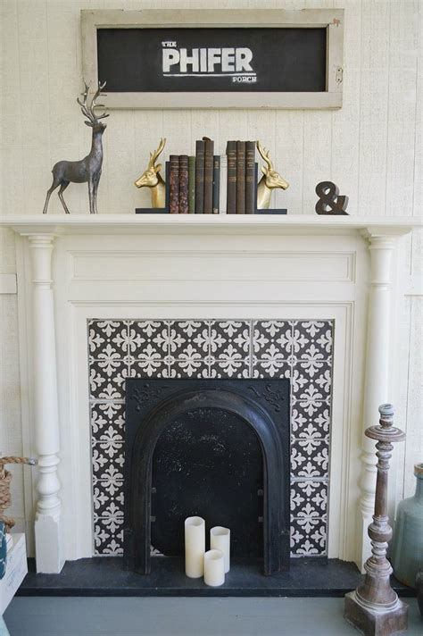fireplace tile surround ideas  pinterest white fireplace surround herringbone