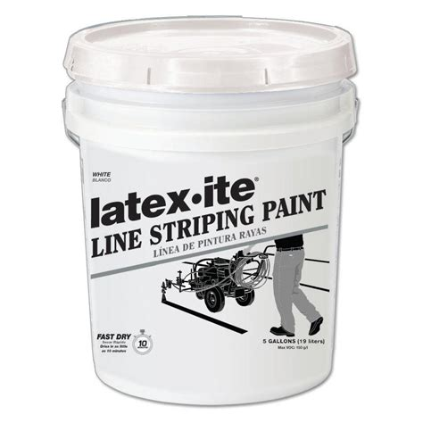 home depot paint lines ite 5 gal white line striping paint 5030 the home
