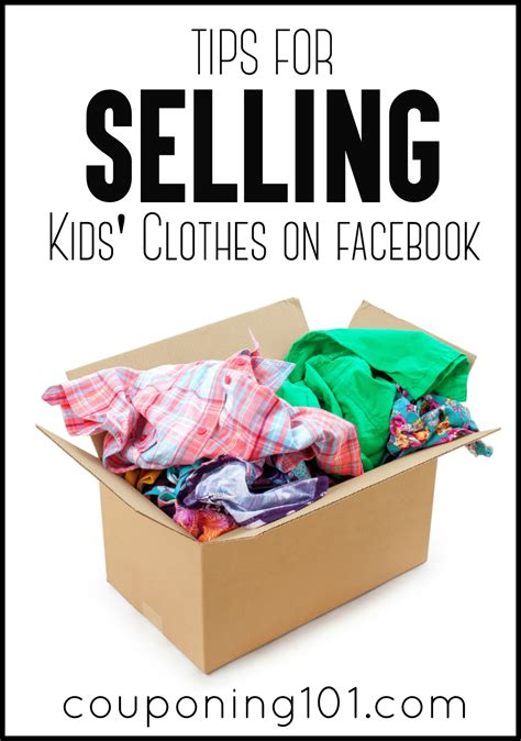 tips for selling kids clothes on garage sale groups
