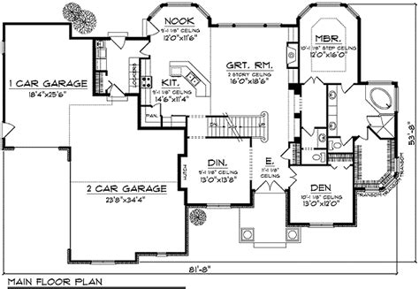 bay window floor plan bay windows throughout european accented home plan