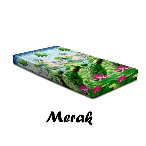 Monalisa Disperse Sarung Bantal 3 sarung kasur monalisa disperse merak warungsprei