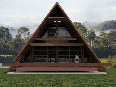 wooden house plans modern triangle house mid century modern house plans