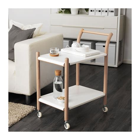 Ikea White Side Table Ikea Ps 2017 Side Table On Castors Beech White 69x40 Cm Ikea