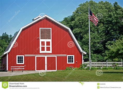 red barn plans the red barn stock photo image 5500030