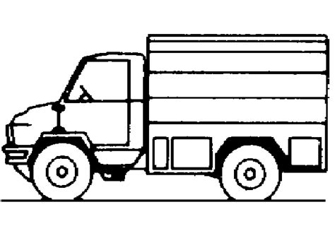 printable images of van delivery van coloring pages for kids