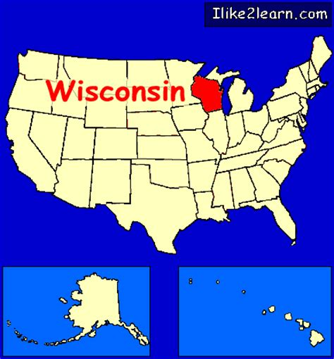 wisconsin on us map wisconsin