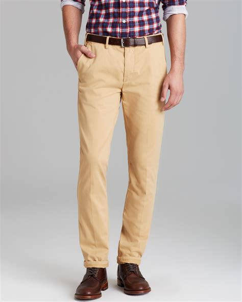 Chinopants Zlstore gant rugger slim fit chino in brown for khaki lyst