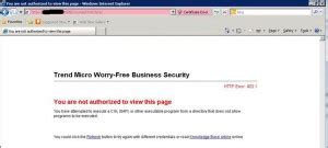 you are not authorized to view this page trend antivirus you are not authorized to view this page