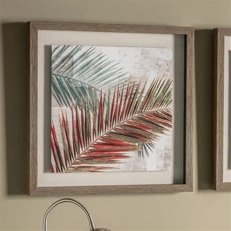 red palm leaves  framed wall art furniture  fashion