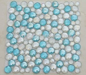 wall tile beading glass bead pebble glass mosaic for glass tile wall