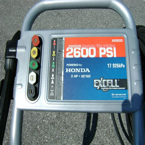xr honda pressure washer  psi