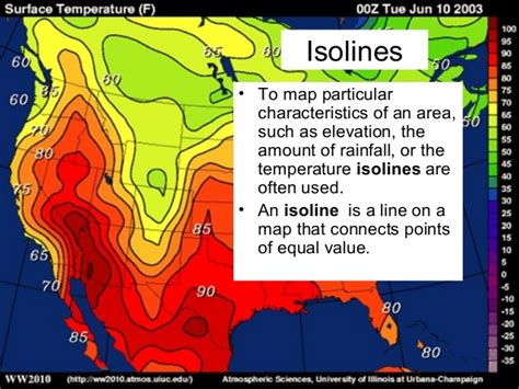 isoline map lab four isolines and contour lines