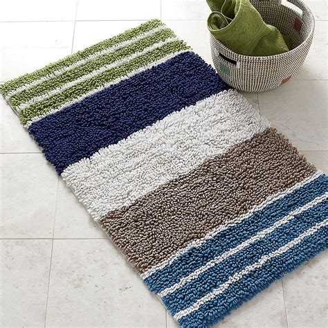 Navy And White Striped Bathroom Rug Best Decor Things Striped Bathroom Rug