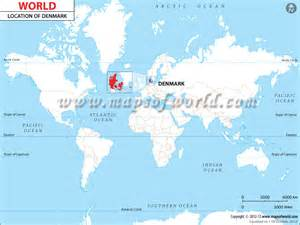 World Map Denmark by Where Is Denmark Location Of Denmark