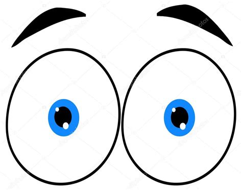 imagenes de ojos grandes chistosos dibujos animados de ojos graciosos vector de stock