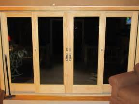 Andersen Sliding Glass Doors Andersen 4 Panel Door With Satin Nickel Hardware Windows