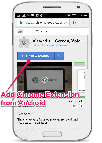chrome extensions android how to install chrome extensions to desktop from android