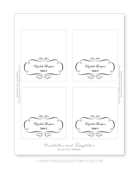 Downloadable Wedding Place Card Templates by Place Card Template Sadamatsu Hp