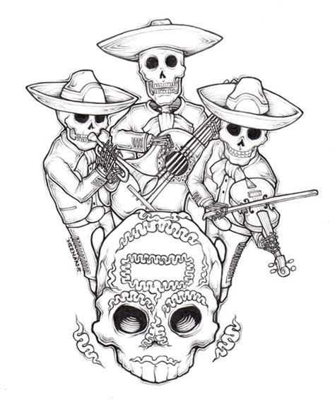 mariachi dia de muertos by dr sur on deviantart