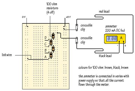 50 ma of current flow through a 10 kω resistor how much power is dissipated measurements with multimeters
