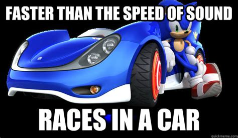 Sega Meme - faster than the speed of sound races in a car sega logic quickmeme