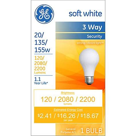 ge 3 way led light bulb ge white 3 way 20 135 155 watt security light bulb