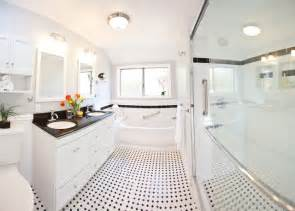 Classic White Bathroom Design And Ideas Classic Black White Bathroom Remodel Traditional Bathroom Los Angeles By One Week Bath