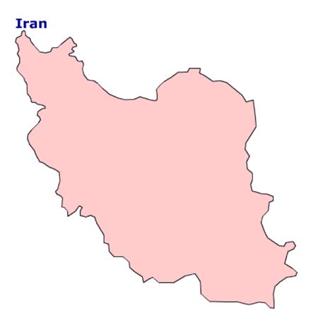 Iran Map Outline by Map Of Iran Terrain Area And Outline Maps Of Iran Countryreports