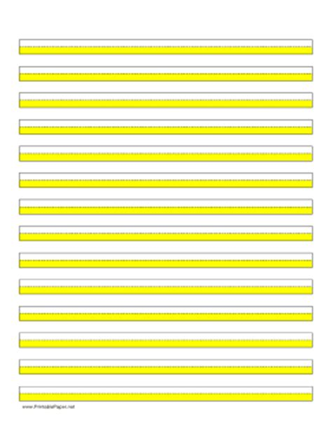 printable highlighted writing paper printable highlighter paper yellow 14 lines