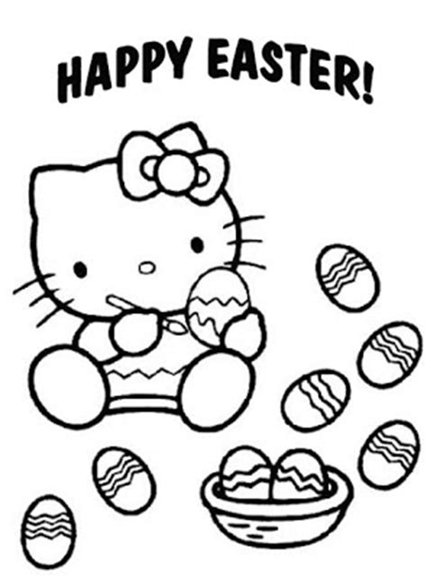 coloring pages hello kitty easter free coloring pages april 2012