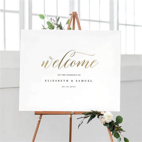 Welcome To Our Wedding Sign Template Printable Welcome Sign Welcome To Our Wedding Template