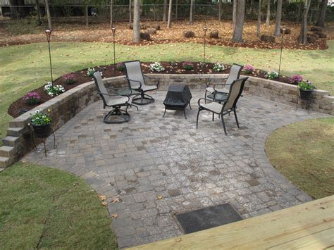 patio ideas landscaping with pavers ideas blue concrete pavers large