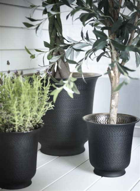 add touch of beauty and warmth to your home with wall hasseln 214 t hammered metal plant pots with a warm brown tint