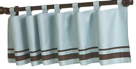 Blue Brown Valance Hotel Blue And Brown Valance Contemporary Curtains