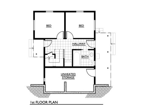 1000 sq ft house plans 3 bedroom modern house plan