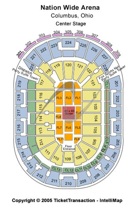 Nationwide Arena Box Office by Disney On Tickets Seating Chart Nationwide Arena