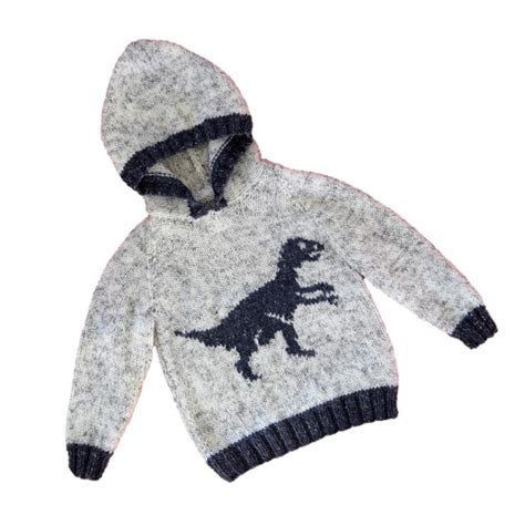 free knit pattern dinosaur sweater dinosaur hoodie velociraptor knitting pattern by