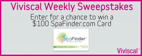 Sell Spafinder Gift Card - enter to win a 100 spafinder com gift card ended viviscal healthy hair tips