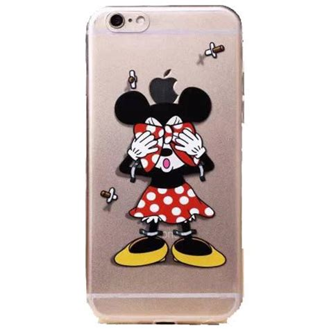 apple iphone  disneys minnie mouse clear case iphone   kidult city