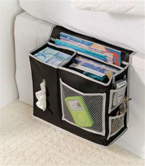 bed caddy bedside hanging organizer caddy black 6 pockets storage