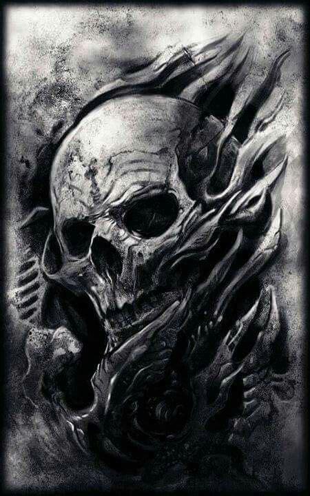 Evil Skull 216 best images about skulls black white on