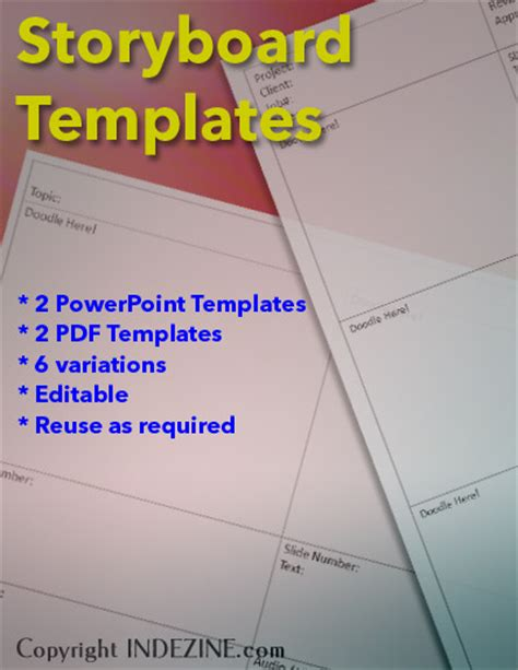 Powerpoint Storyboard Templates Storyboard Template Powerpoint