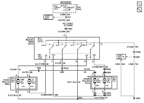 wiring schematic to convert camaro power mirrors with a