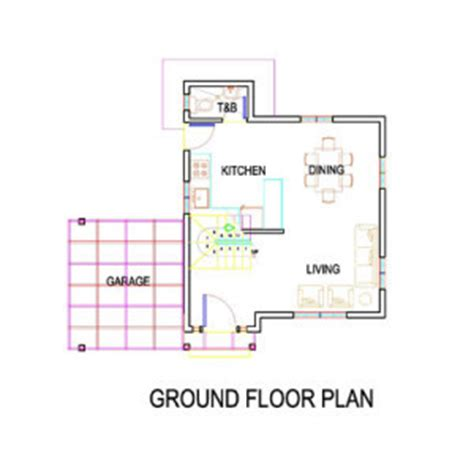 2 bedroom ground floor plan arizza 2br house model solanaland development inc
